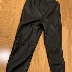 Free People Faux Leather Leggings size 6 NWT
